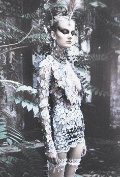 myselfinwonderland:  Constance Jablonski in Dior Haute Couture F/W 1997 by Patrick Demarchelier
