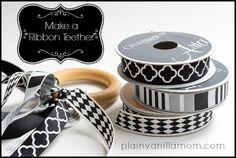 Plain Vanilla Mom: DIY Wooden Ring Ribbon Teether