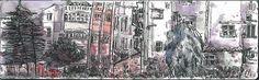 瑠公澃公園 Moleskine Watercolour Notebook 21x13cmx2/鋼筆/水彩