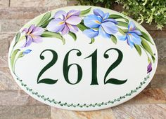 Outdoor iris personalized house numbers, Address and Number, Custom house number, Outdoor Sign, Personalized address number