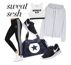 """""""🔩"""" by mirka-smalova on Polyvore featuring NIKE and adidas Originals"""