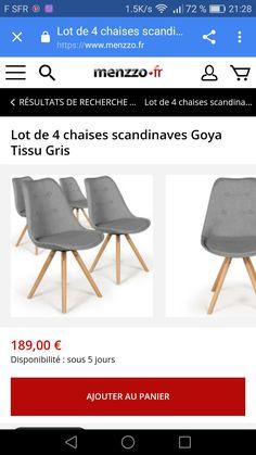 Bois Vintage//Gris Menzzo Dima Lot de 2 Chaises scandinave 51 x 51 x 72 cm