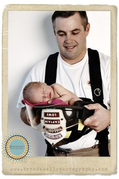 Firefighter & Baby