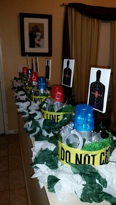 51 best police themed party images retirement parties fireman rh pinterest com