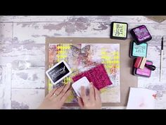 How to Use Distress Ink on a Mixed Media Canvas - YouTube