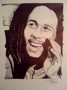 Bob Marley - Ballpoint pen on paper See more of my work at: www.notjustapen.net and on Facebook at http://www.facebook.com/artofkylewillis