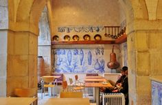 Museum of the Month: The Eccentric Azulejo (Tile) Museum in Lisbon - via The Culture Map 18.04.2014 | One of the special things about visiting the Azulejo Museum is that it's the only one of its kind in the world, furthermore unravelling 500 years of Portuguese history and craftsmanship. #Portugal Photo:Tile Cafe in Lisbon