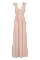 Womens **Little Mistress Pink V-Neck Maxi Dress- Pink