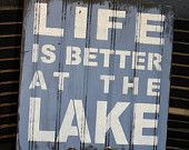 Still Time Christmas LIFE is Better at the LAKE Sign/Lake house/Uniform Blue/Wood Sign/Lake Decor/Life is Better/Lake House