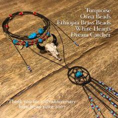 Turquoise OrisaBeads Ethiopia BrassBeads