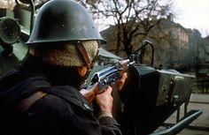 Revolution of 1989 Romanian Revolution, Bucharest Romania, European History, Capital City, Revolutions, Cold War, Headgear, Soldiers, Aesthetics
