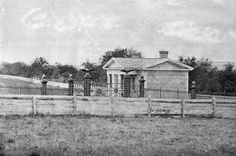 Entrance to Gettysburg National Cemetery, 1865.