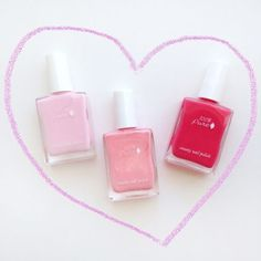 100 Percent Pure Pink Nail Polish Review - Valentine Manicure Ideas