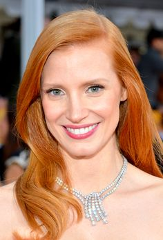 Vibrant Copper hair, like on Jessica Chastain, is becoming one of the hottest trends for 2013. Find how to get your own perfect #hair #color right at home here: http://fabfitfun.com/revolutionize_your_hair_color_2/