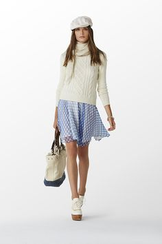 Ralph Lauren. Gingham based outfit