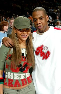 Jay and Bey at a Knicks game in 2003!