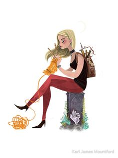 Skills buffy by Karl James Mountford