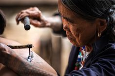 93-year old Fang-od- the last remaining traditional Kalinga tattoo artist.