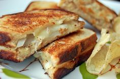 Homemade pretzel bread grilled cheese ..yummy!
