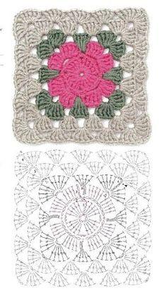Transcendent Crochet a Solid Granny Square Ideas. Inconceivable Crochet a Solid Granny Square Ideas. Crochet Square Blanket, Crochet Blocks, Granny Square Crochet Pattern, Crochet Diagram, Crochet Chart, Crochet Squares, Crochet Granny, Granny Squares, Crochet Diy