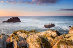 Sunset coast coastal print photographic by AmbiancePhotography Newquay Cornwall, Surf Art, Photographic Prints, Coastal, Surfing, Sunset, Beach, Frame, Water