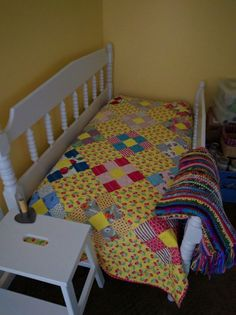 Full Size Bed With Short Rails To Convert A Toddler Crib Mattress