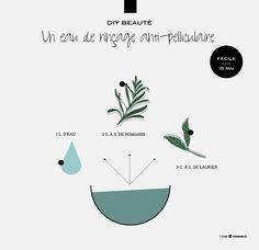 DIY Beauté : une eau de rinçage anti-pelliculaire