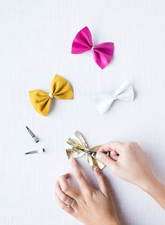diy leather bow clip