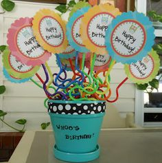 Give crazy straws to students as birthday presents! More fun than receiving another pencil and better than giving away candy!
