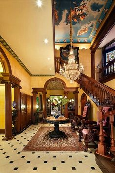 Chapel Hill New York old historic Mansion interior woodwork by techpro12, via Flickr