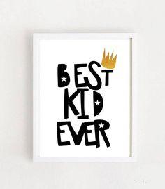 Best Kid Ever Printable Art Nursery Wall Art Kids Room Kids Room Wall Art, Nursery Wall Art, Printable Art, Printables, Scandinavian Nursery, Room Decor, Wall Decor, Art Kids, Nursery Prints