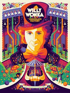Tom Whalen Willy Wonka & the Chocolate Factory Poster... #Arsetculture #Inside_the_Rock_Poster_Frame #Gig_Posters