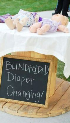 Show your competitive side with this nappy change game. The person who completes it fastest (and blindfolded) wins!