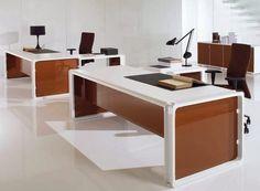 Cool Office Desk, Office Table, Banquettes, Bureau Design, Executive Office, Office Interiors, Office Furniture, Painted Furniture, Corner Desk