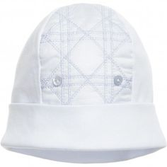 Dior Blue Cannage Baby Hat at Childrensalon.com 11a2e236cac