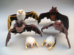 Needle-felted bats!!