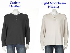 Just $22.99 each !! Arrow Classic Fit Solid Heathered Henley Shirt NEW/NWT Men's Long Sleeve $44 Ret #Arrow #Henley