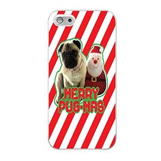 FR23-Merry Pug Xmas Fit For Iphone 5/5S Hardplastic Back Protector Framed White FR23 http://www.amazon.com/dp/B017L94FYE/ref=cm_sw_r_pi_dp_16-pwb0TGAXAM