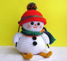 PDF Crochet Pattern SKIING SNOWMAN por bvoe668 en Etsy