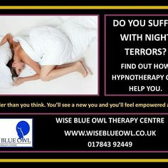 Reposting @hypnosis_counselling_surrey: Do you suffer with night terrors want to resolve them then call us at Wise Blue Owl Therapy Centre 01784 392449 #nightterrors #nightmare #sleeplessnights #insomnia ##sleeplessnights #anxiety #fear  #surrey #london #hypnosis #counselling #hypnotherapy