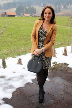Lady of Style. A Fashion Blog for Mature Women. I love this outfit with the exception of the animal print dress...some other pattern and this entire outfit would work for me:)