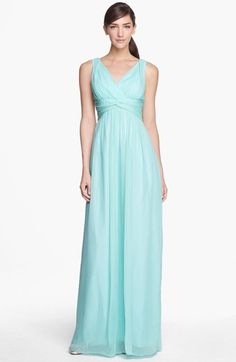 Donna Morgan 'Julie' Twist-Waist Silk Chiffon Gown (Regular & Plus) available at #Nordstrom
