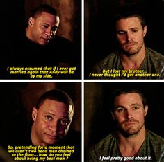 Arrow - Oliver & Diggle #3.15 #Season3 #NandaParbat MY FEELS BROTP FOR THE WINNNNNNN I LITERALLY WANTED TO SCREAM BUT PEOPLE WERE AROUND SO I HAD TO RESTRAIN IT TOOK ALL THE ENERGY IN THE WORLD