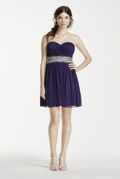 Short Strapless Dress with Crystal Beaded Waist Style 2539SJ8P