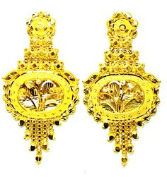 New Gold Earrings/Drops Wedding Grand Look Design 20ct (78% Pure) Light Weight