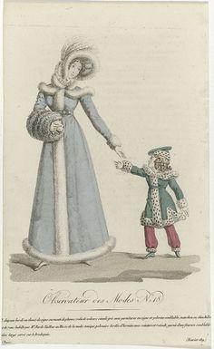 Observateur des Modes, fevrier 1819, No. 18: Chapeau bordé..., anoniem, 1819