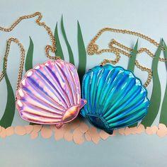 Little mermaid shell bag