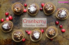 I promise that after today's post we will take a *short* break from all the cranberries. Did you make a batch of cranberry maple syrup and cran-maple compote yet? You're going to need it for these amazing cranberry chocolate truffles! The inside of these candies is a beautiful dark pink color thanks to the cranberry …