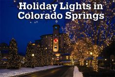 Where to find Holiday Lights in Colorado