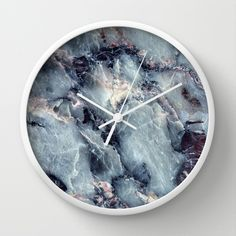Marble (blue gray) Wall Clock